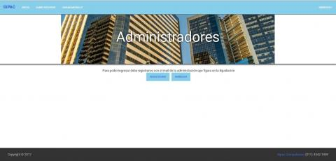 Página web para administradores de consorcios